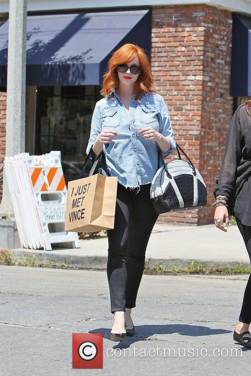 Christina Hendricks out shopping at Boutiques Chloe and...
