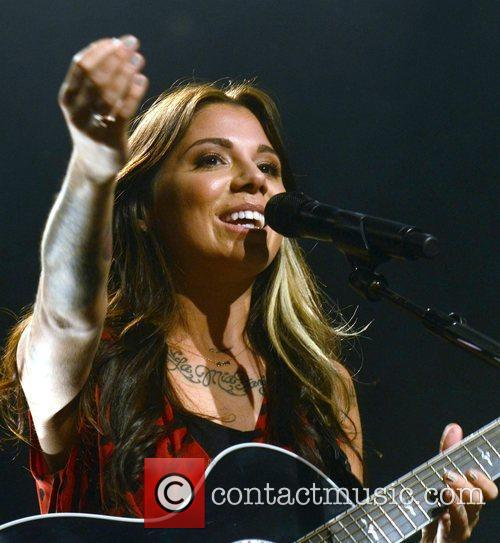 American singer/songwriter Christina Perri performs at The Olympia...