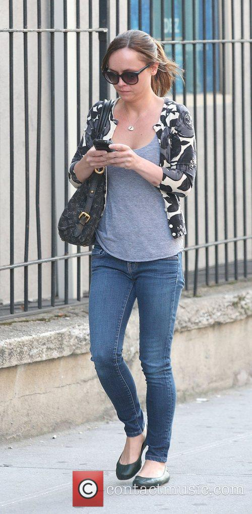 Christina Ricci out and about texting as she...