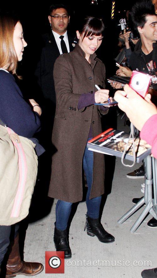 Christina Ricci leaving ABC's 'Jimmy Kimmel Live' studios...