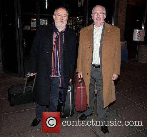 Foster and Allen outside the RTE studios for...