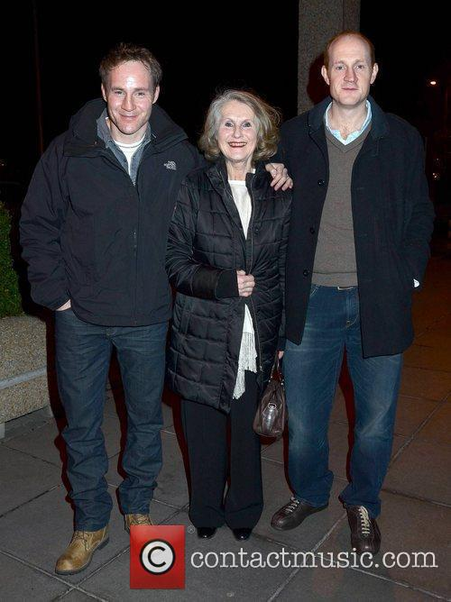 Peter McDonald with mother Bre outside the RTE...