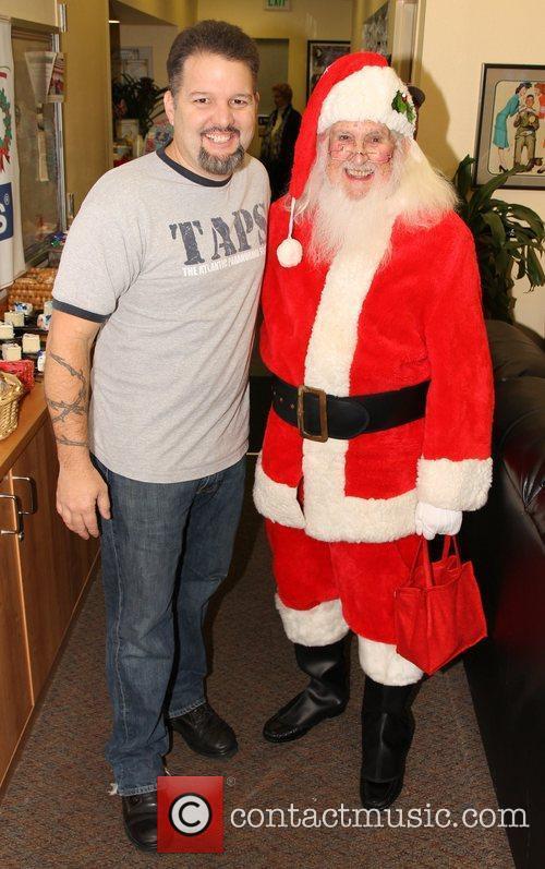 Britt Griffith and Santa Claus,  at the...