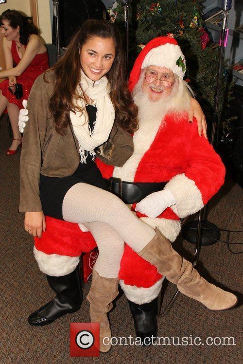 Chelsea Rashoff and Santa Claus,  at the...