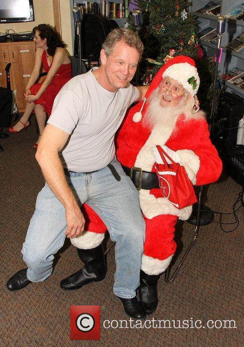 Chriss Anglin and Santa Claus,  at the...