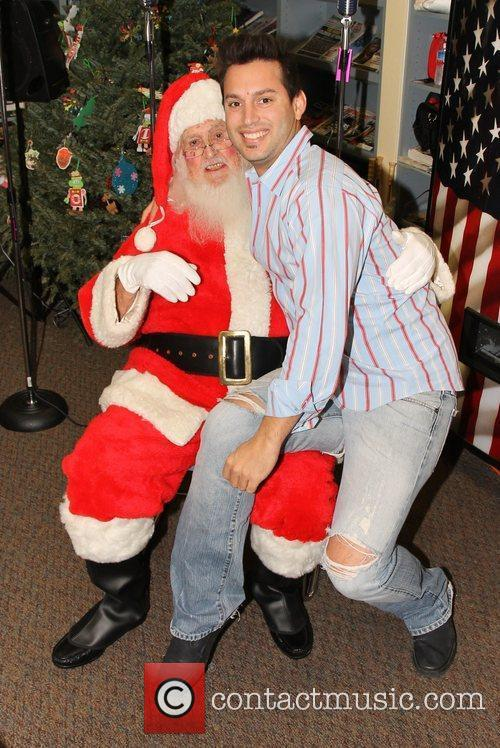Ryan Cleary and Santa Claus,  at the...