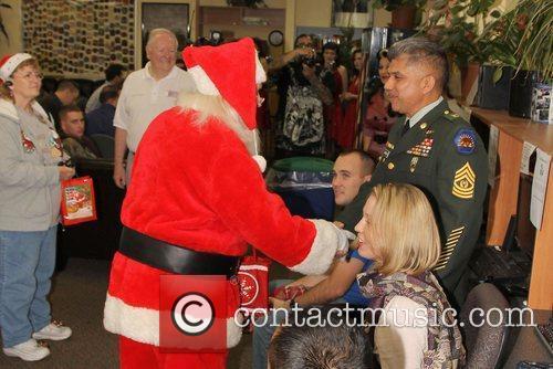 Santa Claus,  at the United Service Organizations...