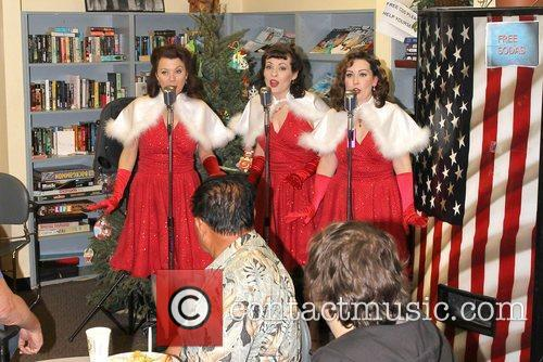The Lindy Sisters performing,  at the United...