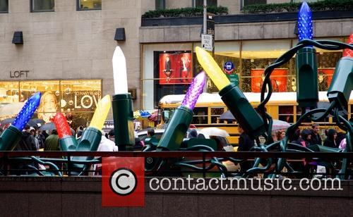 General views of Christmas decorations in Midtwon Manhattan...
