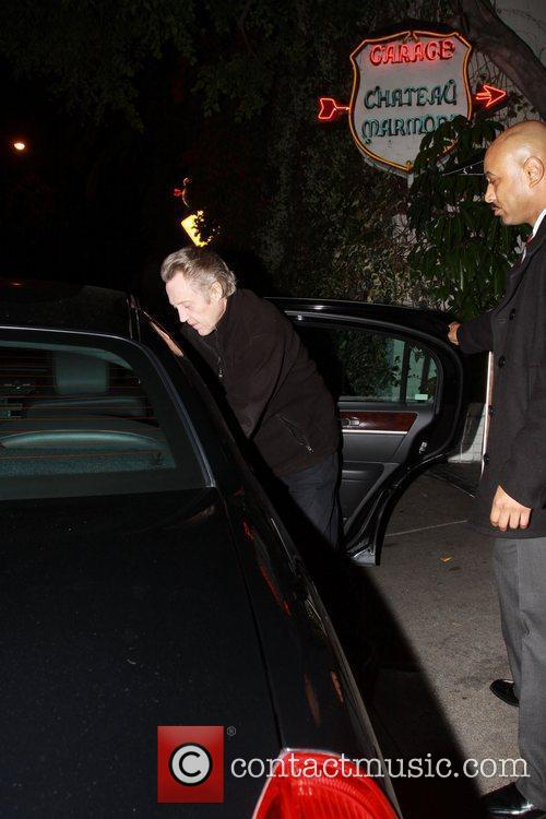 Gets into a car after leaving Chateau Marmont...