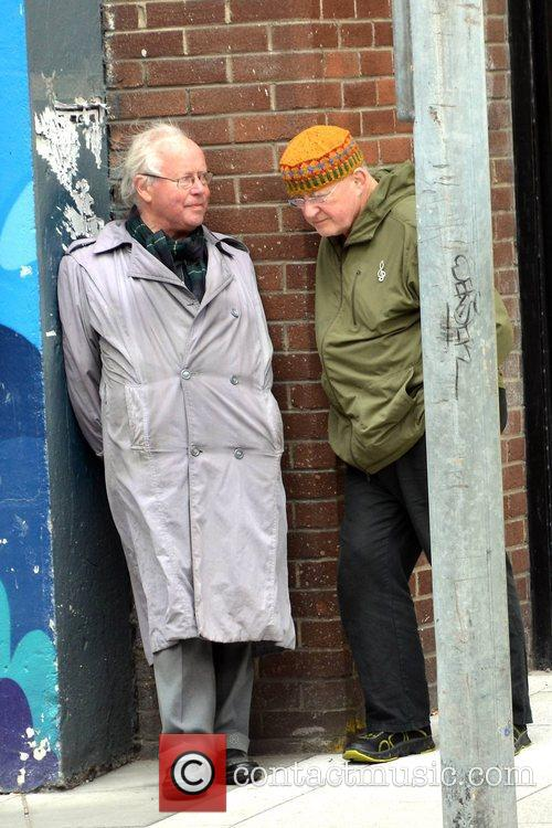 World renowned folk singer Christy Moore spotted chatting...