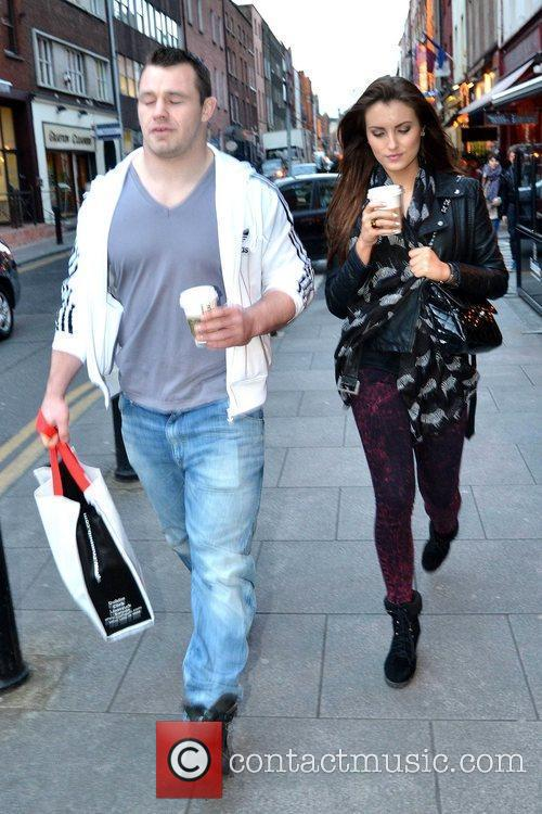 Irish rugby player Cian Healy and his girlfriend...