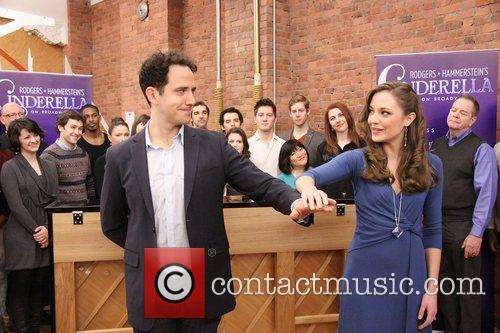 Santino Fontana and Laura Osnes Press day for...
