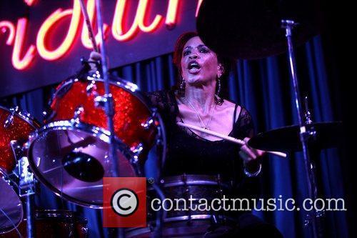 Cindy Blackman Santana American jazz and rock drummer...