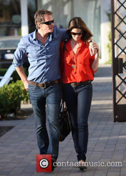 Cindy Crawford wears red for Valentine's day as...