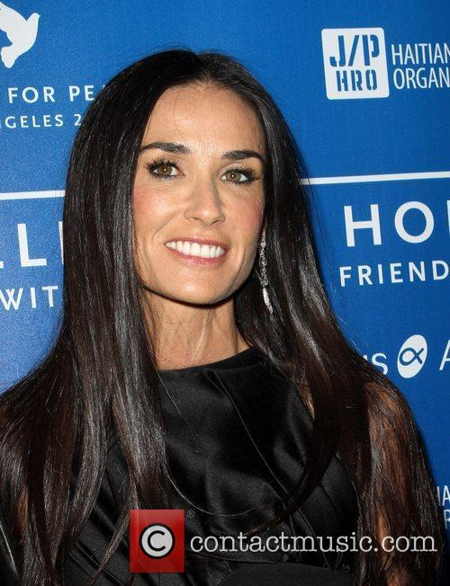 Demi Moore Cinema For Peace Event Benefitting J/P...