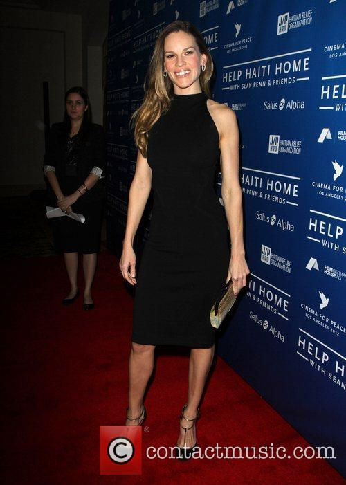 Hilary Swank Cinema For Peace Event Benefitting J/P...