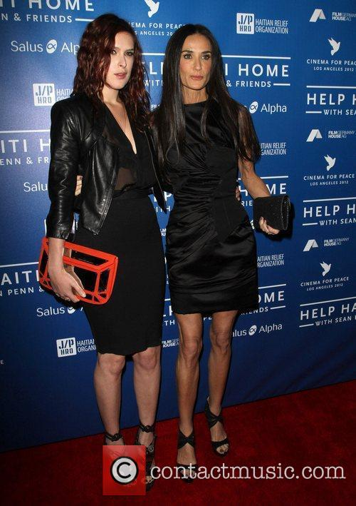 Rumer Willis and Demi Moore 2