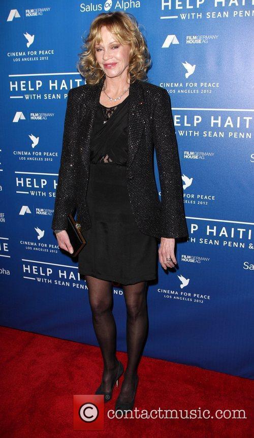 Melanie Griffith Cinema For Peace Event Benefitting J/P...