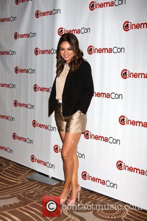 Mila Kunis arrives at the 2012 CinemaCon held...
