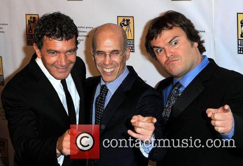 Antonio Banderas, Jack Black, Jeffrey Katzenberg and Caesars Palace 2