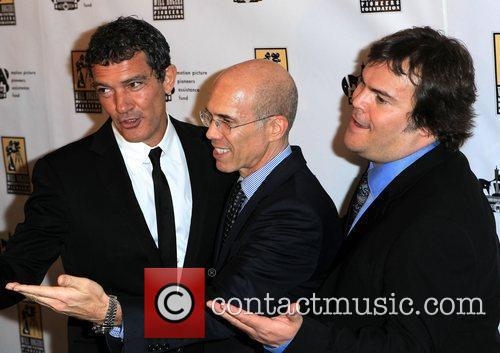 Antonio Banderas, Jack Black, Jeffrey Katzenberg and Caesars Palace 3