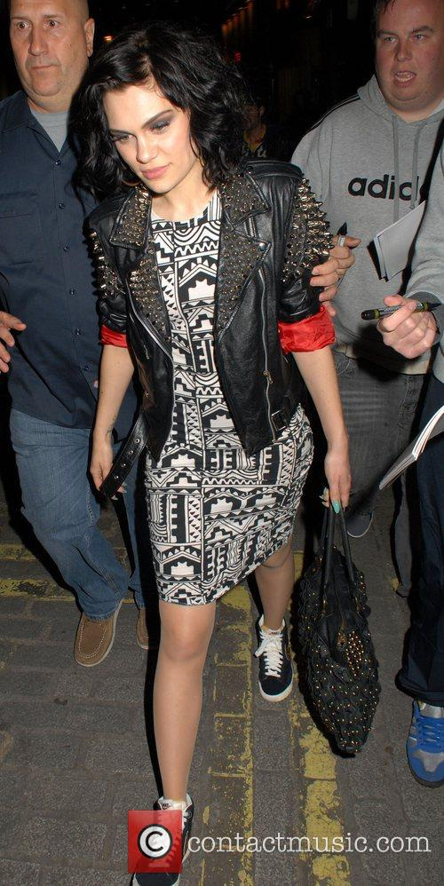 Jessie J  Celebrities leave Cirque Du Soir...
