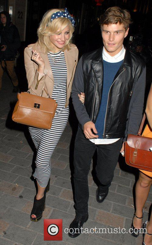 Pixie Lott and Oliver Cheshire  Celebrities leave...