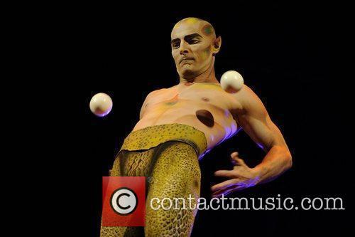 Juggling  Cirque Du Soleil 'Amaluna' dress rehearsal....