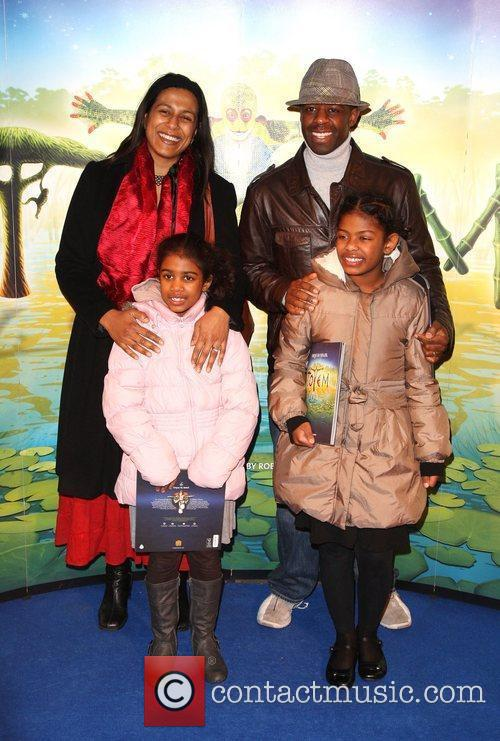 Adrian Lester with his wife and family 'Cirque...