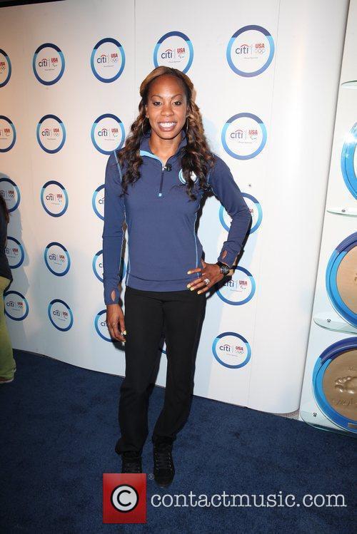 Olympic track and field World Champion Sanya Richards-Ross...