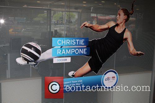 Poster of American soccer player Christie Rampone...