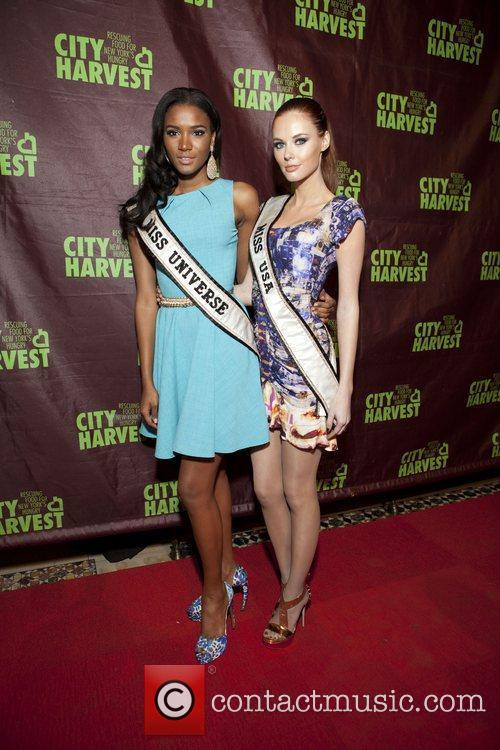 Miss Universe Leila Lopes and Miss USA Alyssa...