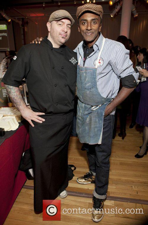 Chef Chris Santos and Marcus Samuelsson City Harvest's...