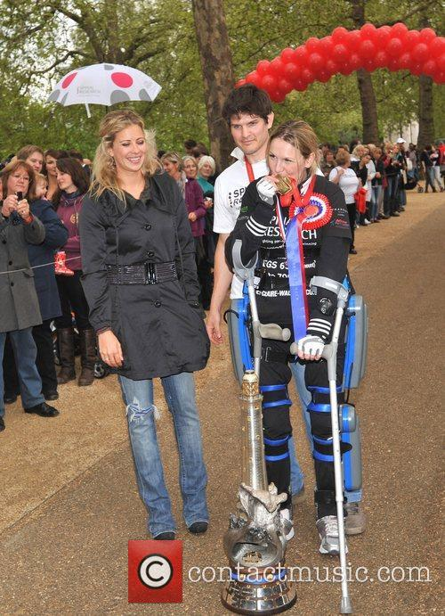 Claire Lomas, husband Dan and Holly Branson Former...
