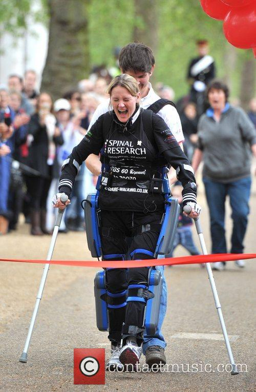 Claire Lomas, husband Dan Former horse rider Claire...