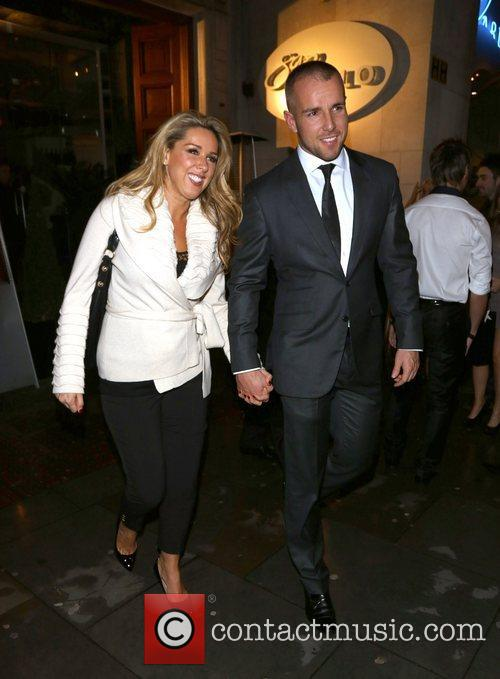 claire sweeney and boyfriend daniel riley leaving 4158397