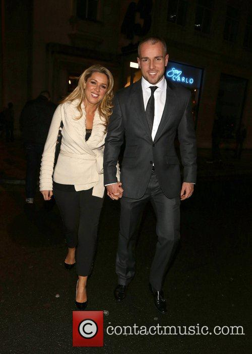 Claire Sweeney and boyfriend Daniel Riley leaving San...