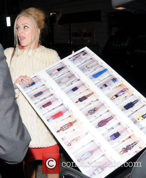 Fearne Cotton leaves Claridge's Hotel after the launch...