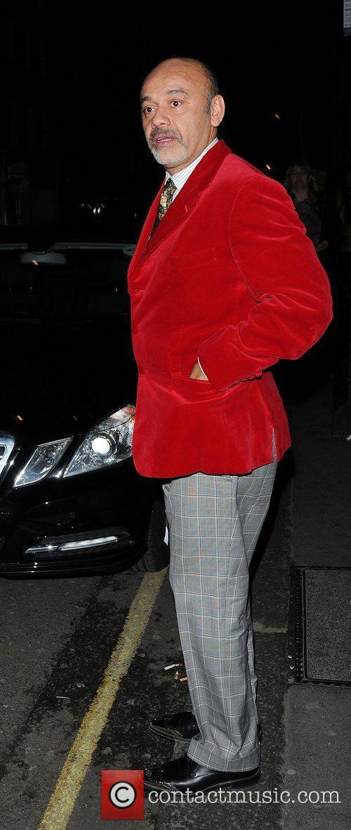 Christian Louboutin leaving The Arts Club London, England
