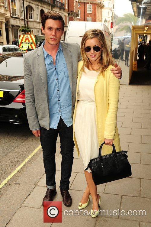 Caggie Dunlop and Joel Steel Celebrities at Claridges...