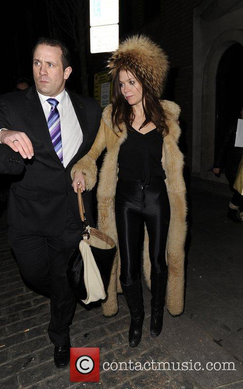 Anna Friel leaving Claridges in London