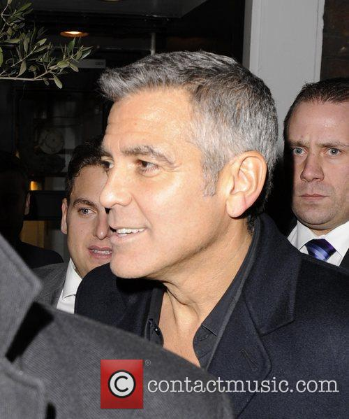 George Clooney leaving Claridges Hotel