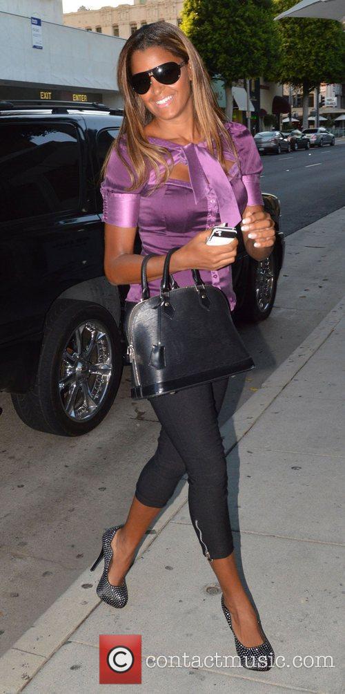Claudia Jordan arriving at Mr Chow Los Angeles,...