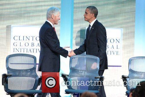Former President Bill Clinton, President Barack Obama Global...