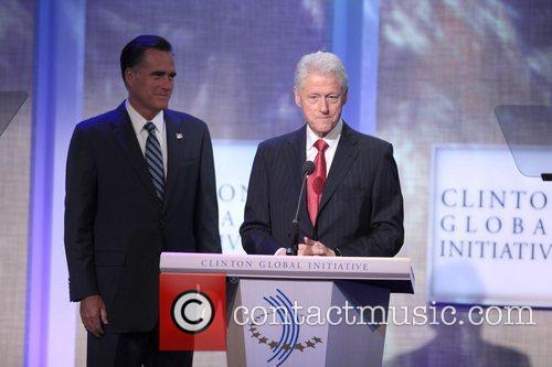 Mitt Romney, Former President Bill Clinton Global Initiative...