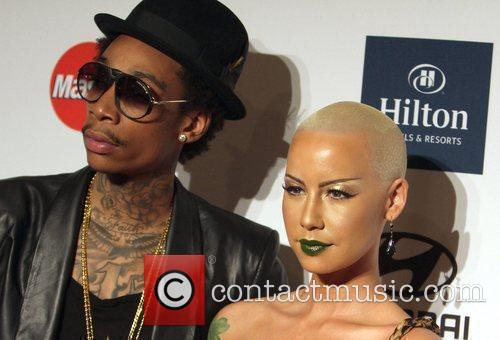 Wiz Khalifa, Amber Rose Clive Davis And The...