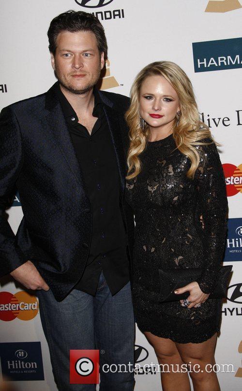 Blake Shelton and Miranda Lambert Clive Davis and...