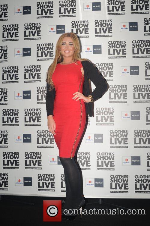 Lauren Goodger attending the Clothes Show being held...