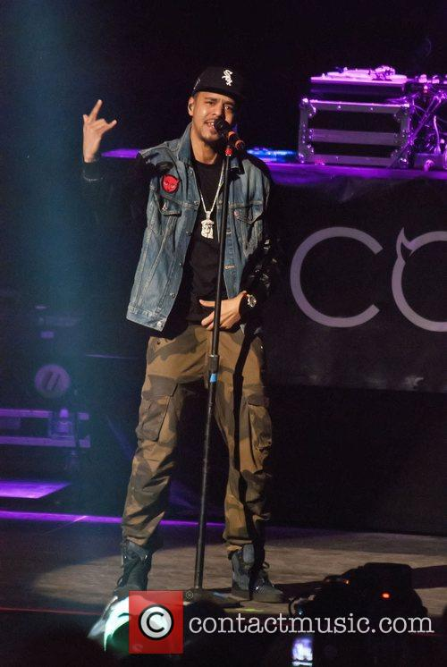J Cole performs on the 'Club Paradise Tour'...